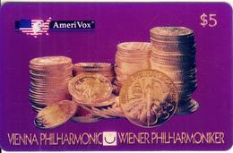USA - Vienna Philarmonic, Amerivox Prepaid Card $5, Tirage 5000, 10/95, Mint - Stati Uniti