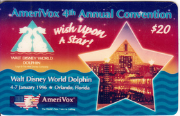 USA - Wish Upon A Star, Amerivox Prepaid Card $20, Tirage 2777, 12/95, Sample - Stati Uniti