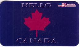 USA - Hello Canada, Amerivox Prepaid Card - Stati Uniti