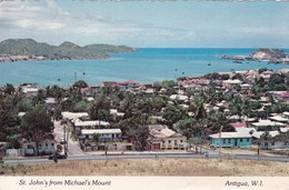 ST JOHN'S FROM MICHAEL'S MOUNT. ANTIGUAMM WEST INDIES. CIRCULEE 1981 A L'ARGENTINE. PLATICHROME - BLEUP - Antigua Und Barbuda