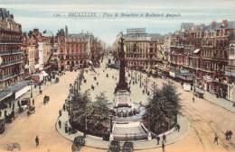 BRUXELLES - Place De Brouckère Et Boulevard Anspach - Places, Squares