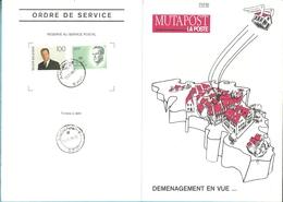 "MUTAPOST ""LA BONNE ADRESSE"" / DEMENAGEMENT (124M) 2236+2576 Met Stempel ANDENNE - 1981-1990 Velghe"