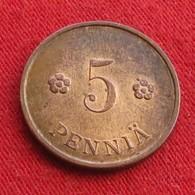 Finland 5 Pennia 1937 KM# 22  Finlande Finlanda Finlandia - Finlande