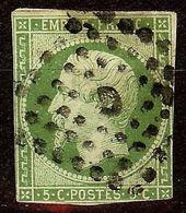 EXTRA NAPOLEON N°12b 5c Vert Foncé Oblit Losange LETTRE D Cote 180€ PAS AMINCI - 1853-1860 Napoléon III
