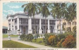 AGENCIA DE PASAGEROS DE LA COMPANIA DE VAPORES DE LA PANAMA RAILROAD CRISTOBAL CZ.MADURO JR. CIRCA 1950s - BLEUP - Panama