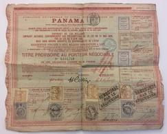 Compagnie Universelle Du Canal Interocéanique De Panama. Titre Provisoire Au Porteur Négociable. - Navigation