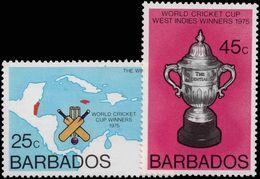 Barbados 1976 Cricket World Cup Unmounted Mint. - Barbados (1966-...)