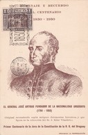 HOMENAJE Y RECUER4DO GENAAL JOSE ARTIGAS. OBLITERE 1930. URUGUAY - BLEUP - Personnages Historiques