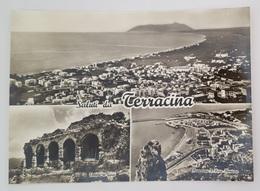 SALUTI DA TERRACINA (Latina) - Vedutine - Panorama E Pisco Montano - Tempio Di Giove - Spiaggia  Vg - Latina