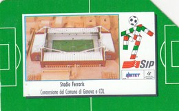 SCHEDE TELEFONICHE SIP ITALIA-ITALIA 90 GLI STADI -STADIO FERRARIS DI GENOVA- USATA-- - Italia