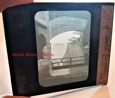 Photo Sur Plaque De Verre Début XXe - LE MONT SAINT MICHEL - Etude Architecturale D'une Voute - Manche Normandie - Plaques De Verre