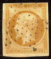 SUPERBE NAPOLEON N°13 Ac 10c Bistre-Brun Oblitéré ETOILE PLEINE Cote + 35 Euro - 1853-1860 Napoléon III