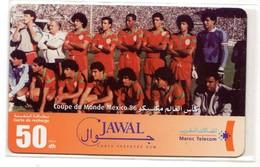 MAROC PREPAYEE JAWAL MAROC TELECOM FOOT Coupe Du Monde Mexico 86 - Maroc