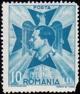 ROMANIA - Scott #B91 King Carol II / Mint H 'Damaged' Stamp - 1918-1948 Ferdinand, Charles II & Michael