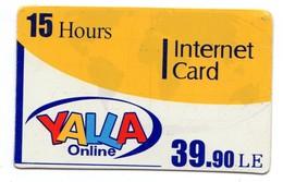 EGYPTE YALLA ONLINE INTERNET CARD - Egypte