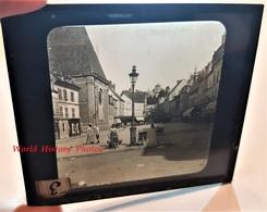 Photo Sur Plaque De Verre Début XXe - DREUX - La Grande Rue - Magasin CEBILLE - Horlogerie G. Baton - Eure Et Loir - Glass Slides