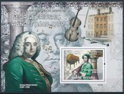 NB - [401080]Guinée-Bissau 2009 - 100ème Anniversaire De La Mort De George Frideric Handel, Musicien - Compositeur, Inst - Musique