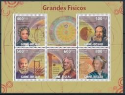 NB - [401150]Guinée-Bissau 2009 - Grand Physiciens, Michael Faraday, Galiléo Galiléi, James Prescot Joule, Leonhard Paul - Physics