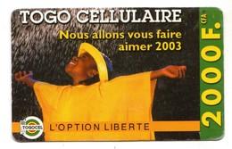TOGO Prepayé TOGOCEL Togo Cellulaire 2000F Année 2003 - Togo