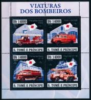 NB - [401424]Sao Tomé-et-Principe 2006 - Voitures De Pompiers , Argent - Sapeurs-Pompiers
