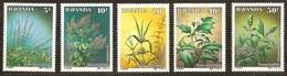 Rwanda Ruanda 1989 OCBn° 1342-1346 *** MNH Cote 40 Euro Plantes Médicinales Planten - 1980-89: Neufs
