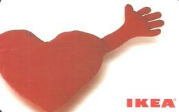 IKEA * FURNITURE STORE * SWEDEN * SWEDISH * HEART * Ikea 2006 01 De A2 * Germany - Gift Cards