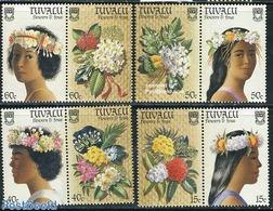 Tuvalu 1987 Flowers 4x2v [:], (Mint NH), Nature - Flowers & Plants - Tuvalu