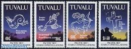 Tuvalu 1992 Zodiac 4v, (Mint NH), Science - Astronomy & Astrology - Astrology