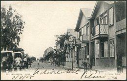 Mozambique BEIRA Rua Valsassina Street View Real Photo Postcard PPC Moçambique Posted 1905 To Hungary - Mozambique