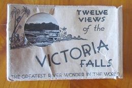 "VICTORIA FALLS=GREATEST RIVER WONDER IN THE WORLD=12 VIEWS=POSTCARD SET=""THE SMOKE THAT THUNDERS""=STUNNING SET=WATERFALL - Zimbabwe"