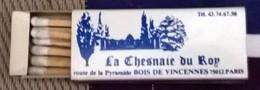 La Chesnaie Du Roy à Paris - Boites D'allumettes