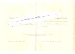 TIENEN / TIRLEMONT - Faire-part De Mariage De Simone VANROELEN Avec François DUBOIS En 1936  (b244) - Wedding