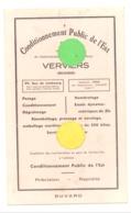 Buvard Publicitaire - Conditionnement Public De L'Est SA  à VERVIERS - Heusy (b244) - Autres