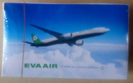 Poker Of EVA AIR (airline Co. Of Taiwan) - 2013 A Star Alliance Member Airplane Plane Playing Cards - Cartes à Jouer Classiques