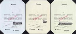 Russian Union Of Bonists 50, 100, 250 Rubles Specimens UNC - Russia