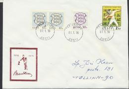 57-848 Estonia Chess Keres Birthday Cover 07.01.1996 From Post Arrival Postmark - Estonia