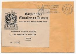 Fragment - OMEC Secap - NUITS-ST GEORGES (Cote D'Or) Ses Grands Vins / Sa Confrérie / Des Chevaliers Du Tastevin - 1957 - Marcophilie (Lettres)