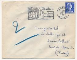 Enveloppe - OMEC Secap - CHARLIEU (Loire) - Ses Cloitres / Son Abbaye - 1958 - Oblitérations Mécaniques (flammes)