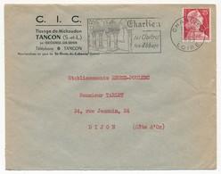 Enveloppe - OMEC Secap - CHARLIEU (Loire) - Ses Cloitres / Son Abbaye - 1959 - Oblitérations Mécaniques (flammes)
