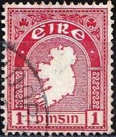 Ireland 1922 - Mi 41A - YT 41 ( Map Of Country ) Wmk. SE - Usati