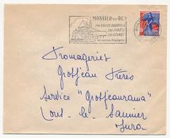 Enveloppe - OMEC Secap - MONTIER EN DER (Hte Marne) - Son église Abbatiale / Ses Forêts / Ses étangs / Ses Courses..1960 - Marcofilia (sobres)