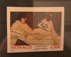 MONACO Painting Manet Olympia IMPERF MNH - Birds