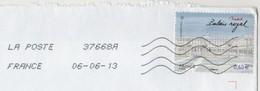 LETTRE ENTIERE DE 2013 - LE PALAIS ROYAL DE MADRID SEUL SUR LETTRE, VOIR LE SCANNER - France