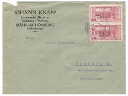 12763 - Pour L'Allemagne - Tchécoslovaquie