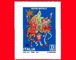 Nuovo - MNH - ITALIA - 2018 - Natale - Grafico - Famiglia E Albero Di Natale - B - 1946-.. République