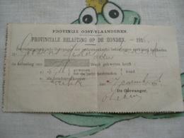 Provinciale Belasting Op De Honden 1916 - Transports