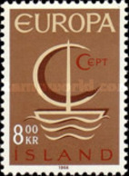 USED STAMPS Iceland - EUROPA Stamps  - 1966 - 1944-... Republik