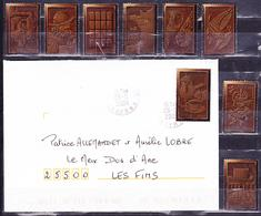 FRANCE 2009 COVER TO LES FINS CHOCOLATE STAMP + 8 USED FROM THE SERIE - Alimentation