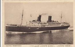 AK - Lloyd Triestino - Italienisches Linienschiff CONTE ROSSO - CONTE VERDE - Piroscafi