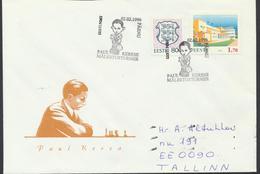 57-865 Estonia Pärnu Chess Keres Tournament 02.02.1996 From Post Arrival Postmark - Estonia